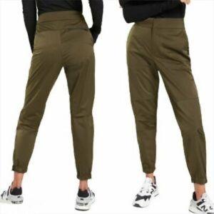 Athleta Radiant Joggers Pants Olive Green Satin 0